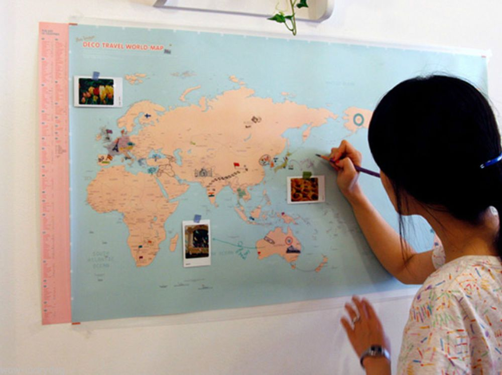 Map of the world large world map sticker set travel education back map of the world large world map sticker set travel education back to school gumiabroncs Gallery