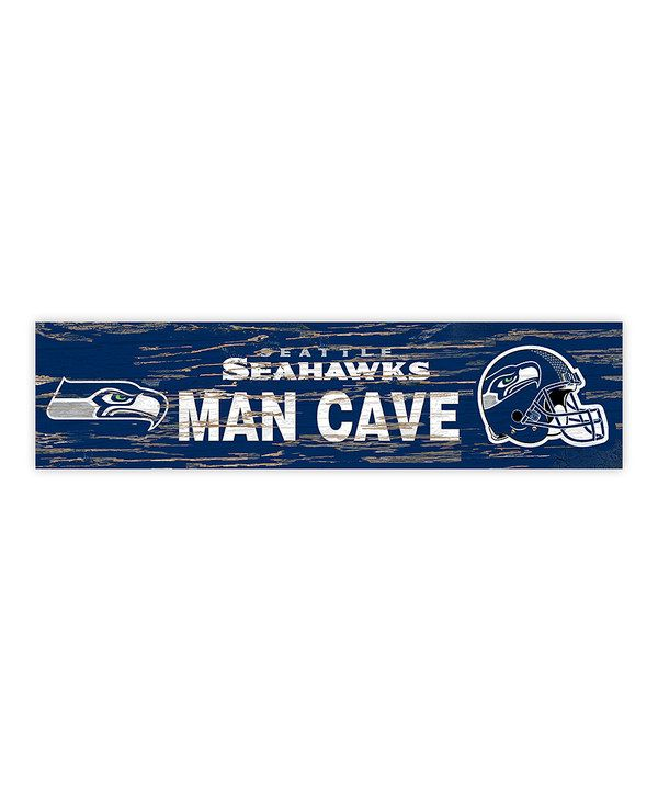 Take a look at this Seattle Seahawks Distressed 'Man Cave' Sign on zulily today!