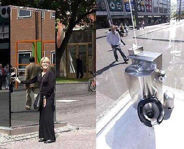 Самые странные и необычные туалеты во всем мире: писсуары прямо в центре города и прозрачные кабинки (фото) Самые необычные общественные туалеты во всем мире: открытые туалеты прямо на улице в Европе, туалеты в форме женских губ и с прозрачными стенами. Подборка странных туалетов - фото