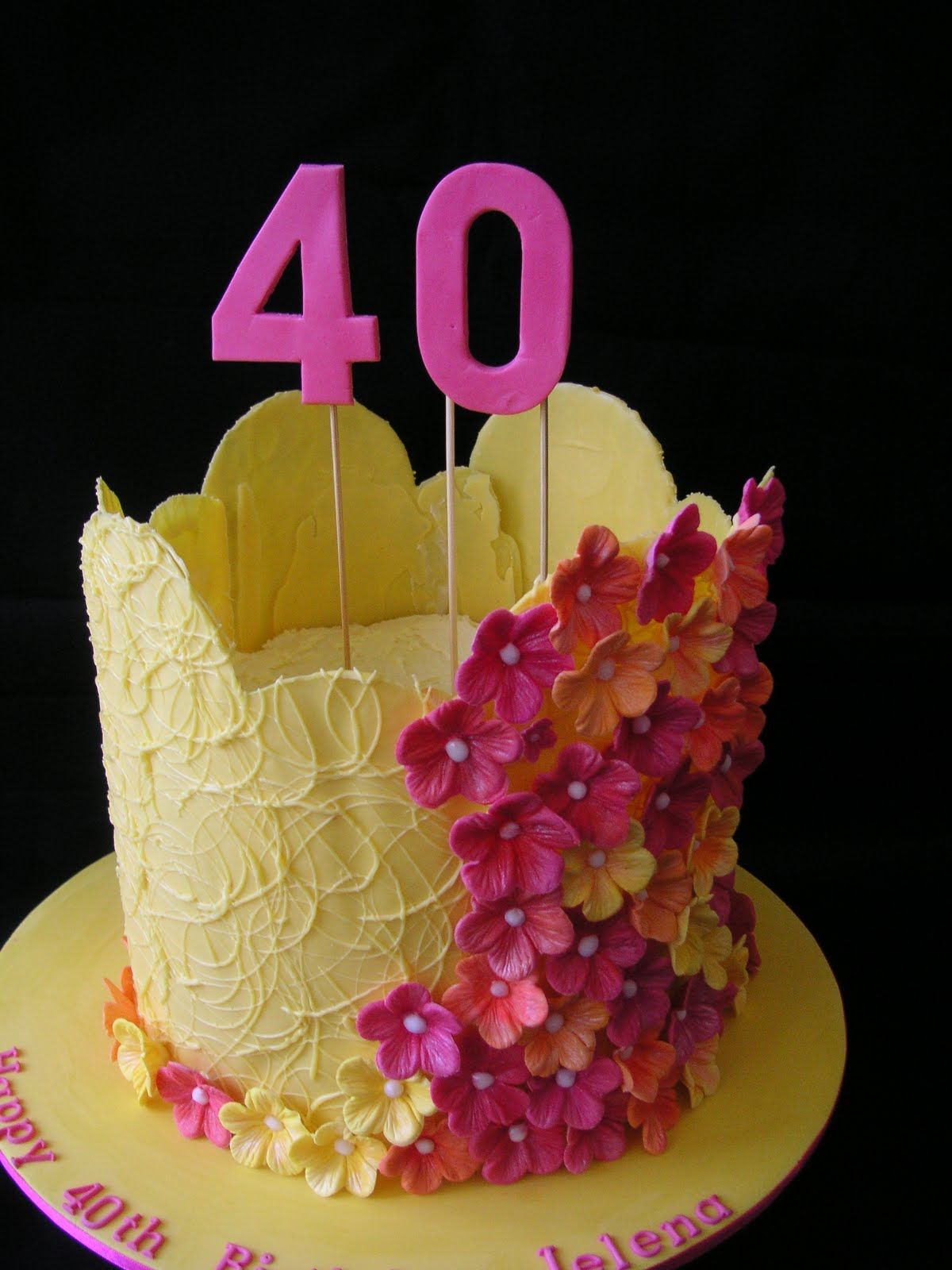Tartas de cumpleaños - Birthday Cake - flowers