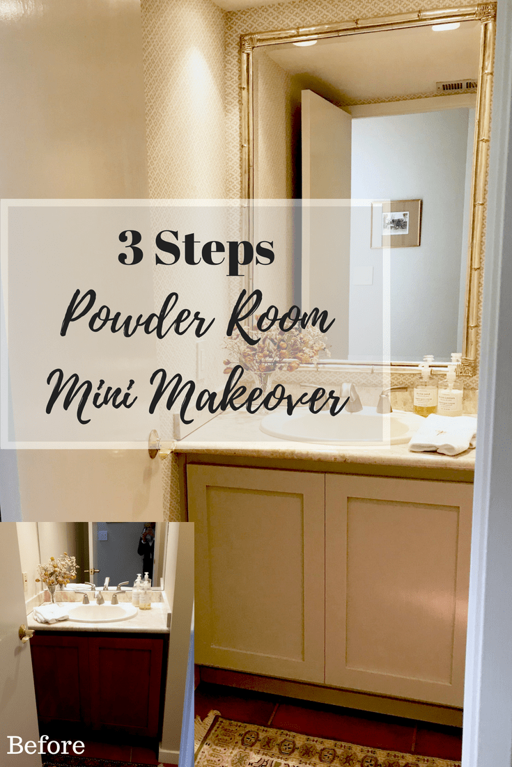 Three Step Affordable Powder Room Makeover Diy Bathroom Remodel