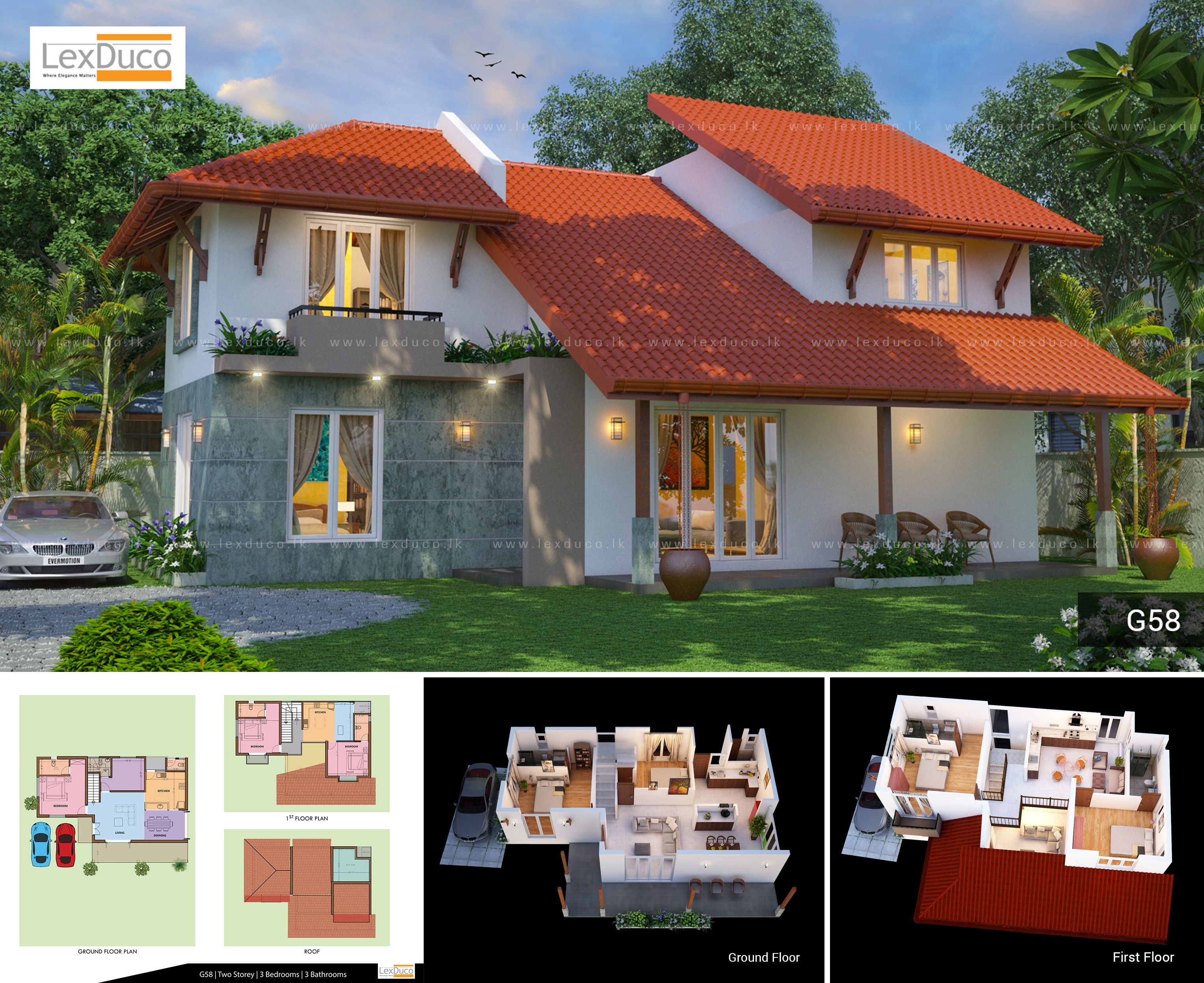Top 200 House Designs In Sri Lanka And 3d Home Plans For 2019 By Lex Duco Two Storey Category In 2020 House Plans Two Storey House Plans House Design