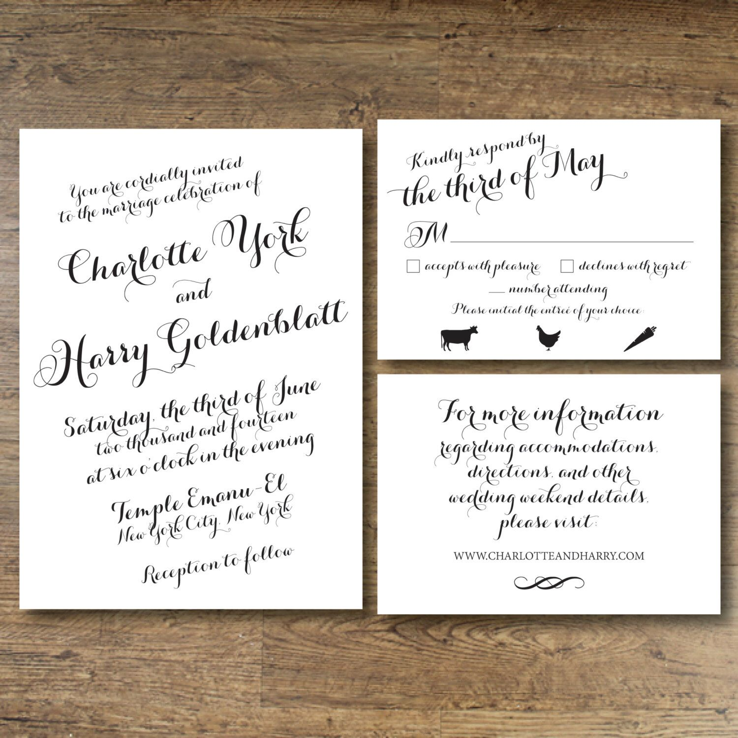 Printable Wedding Invitation - The Charlotte by OhDarlingPaper on ...
