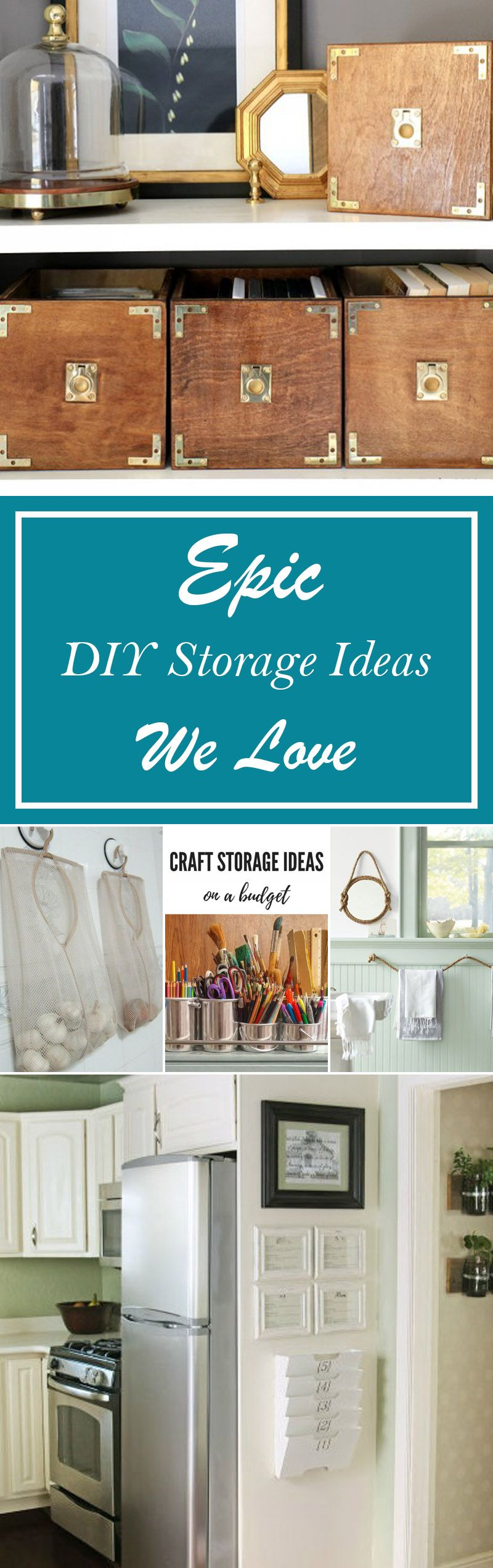 42 Epic DIY Storage Ideas We Love   Pinterest