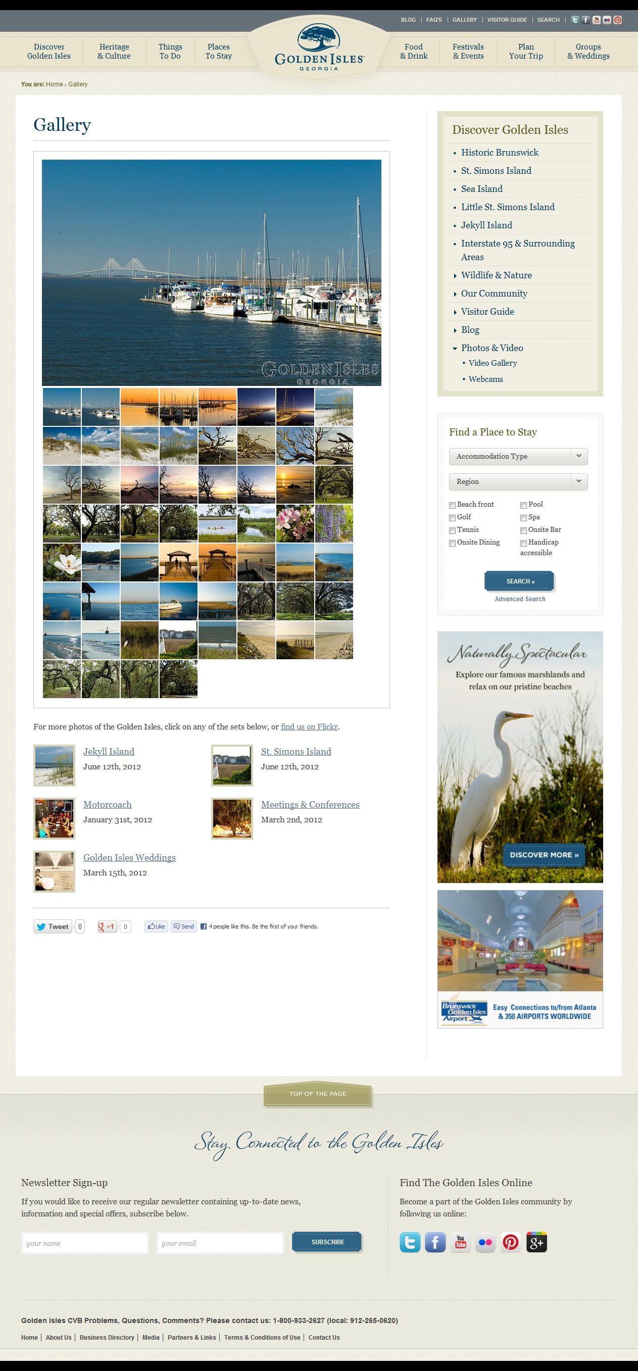 Web Design Inspiration - www.goldenisles.com/blog/gallery/photos