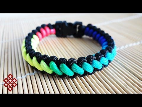 How To Make A Stitched Solomon's Dragon Paracord Bracelet Tutorial Cool Paracord Bracelet Patterns