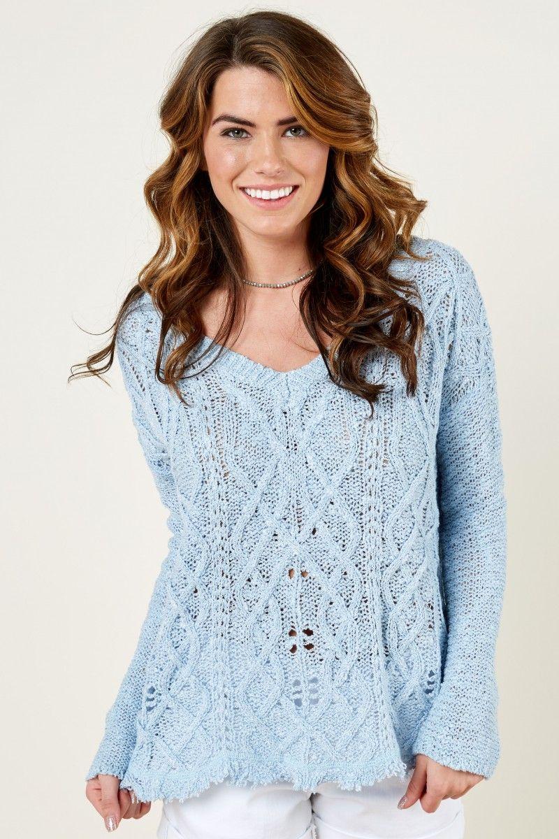 Softest Splendor Powder Blue Sweater at reddressboutique.com ...