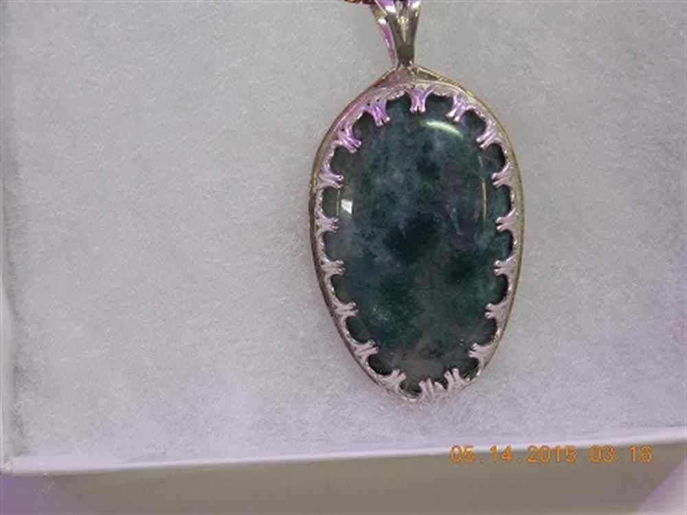 Beautiful Green moss agate pendant