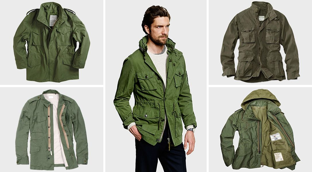 Superdry Men's Green Rookie Military Field Jacket Cotton MEDIUM