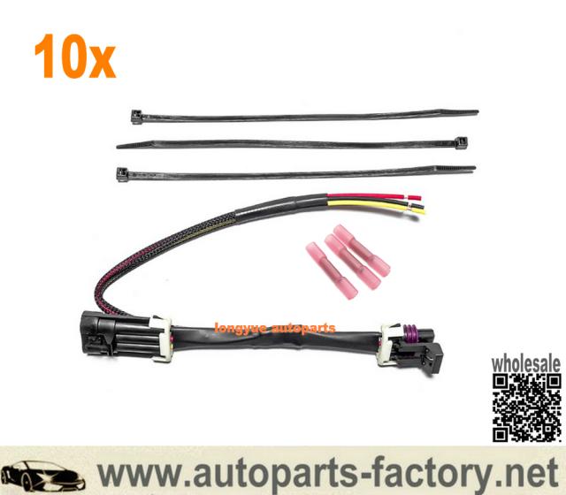Longyue 10pcs 2012 Newer Can Am Maverick Rear Tail Light Plug And Play Three Wire Wiring Harness 12 Tail Light Plugs Harness