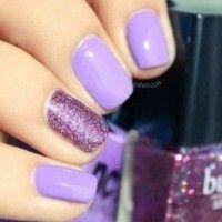 Purple Colored Nails