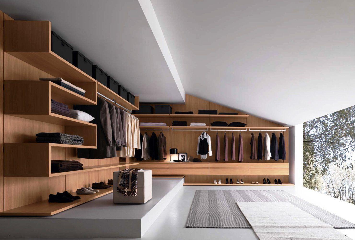 Closet and Wardrobe Designs Modern luxurious openspace grey walk