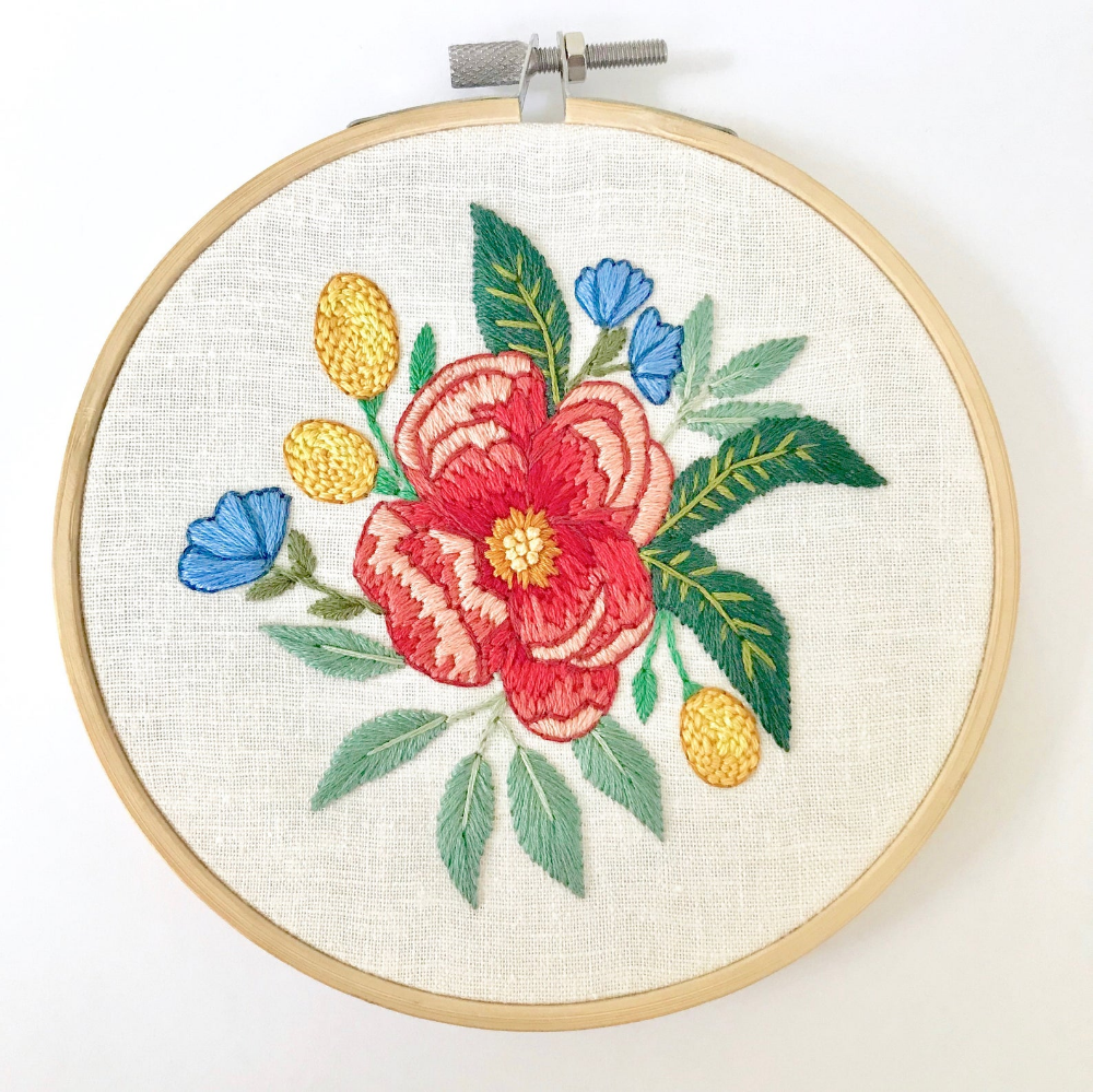 Floral Embroidery Pattern Thread Painting Tutorial Embroidery