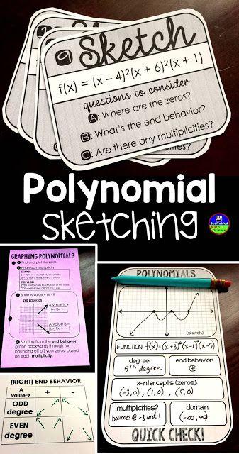 Teaching Polynomial Sketching School Algebra High School Algebra Polynomials