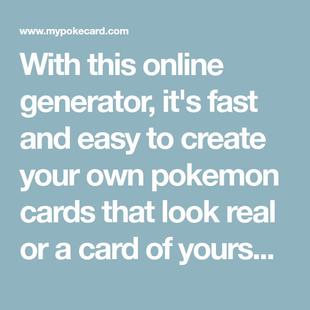 With This Online Generator It S Fast And Easy To Create Your Own