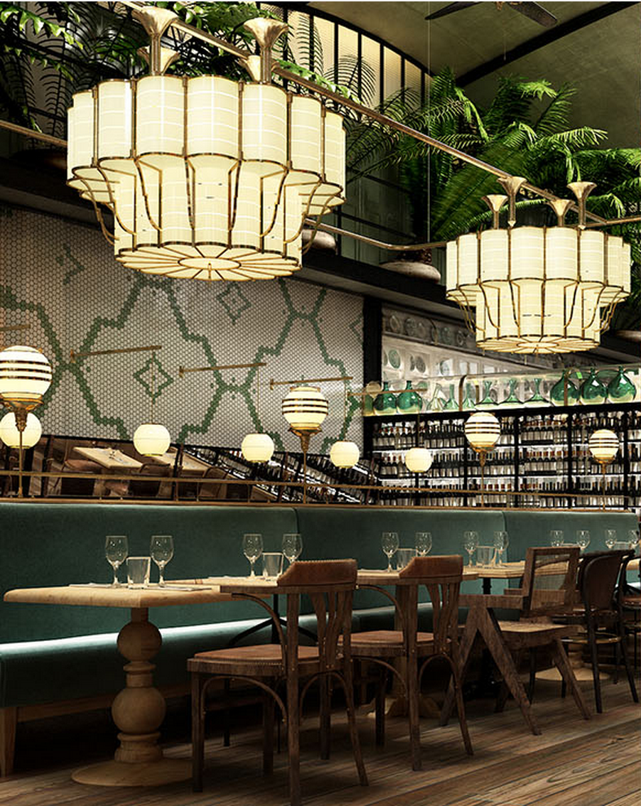 Green passion restaurant interior design ideas also interiors rh pinterest