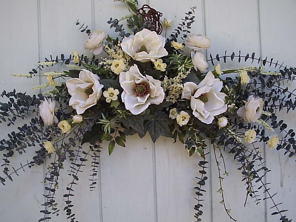 Silk floral swags wall swags silk floral country swags for Picture arrangements for large walls