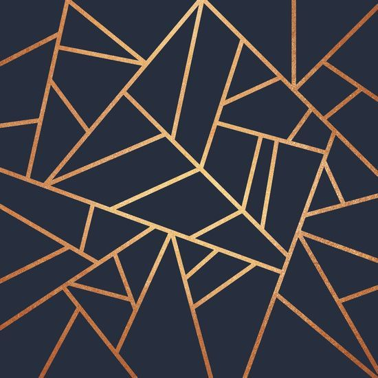 Poster Gold Geometric Wallpaper Rose Gold Wallpaper Navy