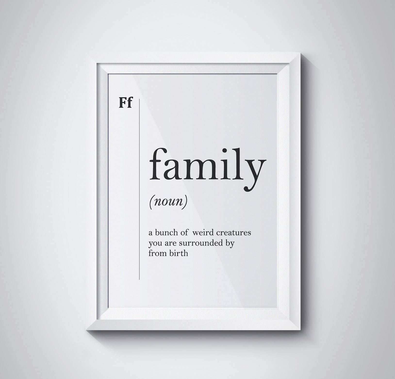 Family Definition Art, Family Wall Art, Funny Definition Art, Minimalist Art, Family Print, Definition Prints, Affiche Definition, #HQDEF002 by HQstudio on Etsy