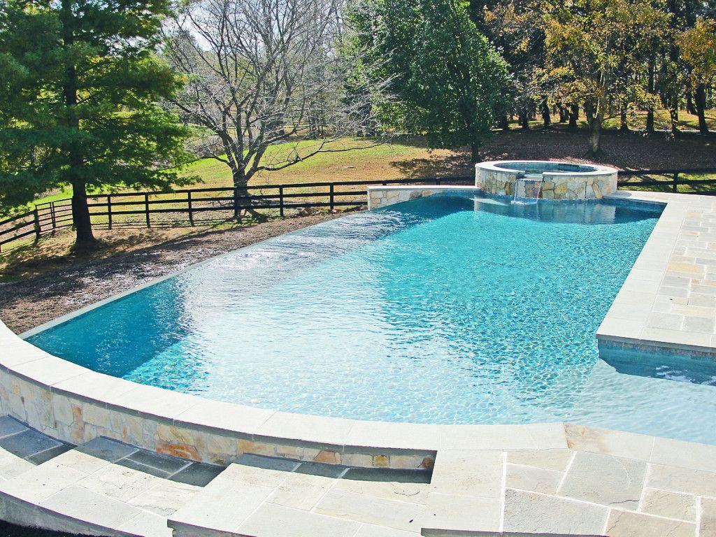 Infinity edge pool in washington va hunt country pool for Pool design hours