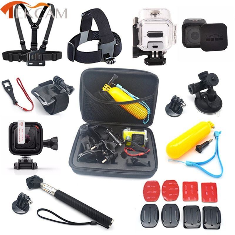 Accessories Set For Gopro Hero 5 Session 45m Waterproof Case Stick Lens Protector For Gopro Session Hero 4 Session Her Gopro Hero 5 Water Proof Case Gopro Hero