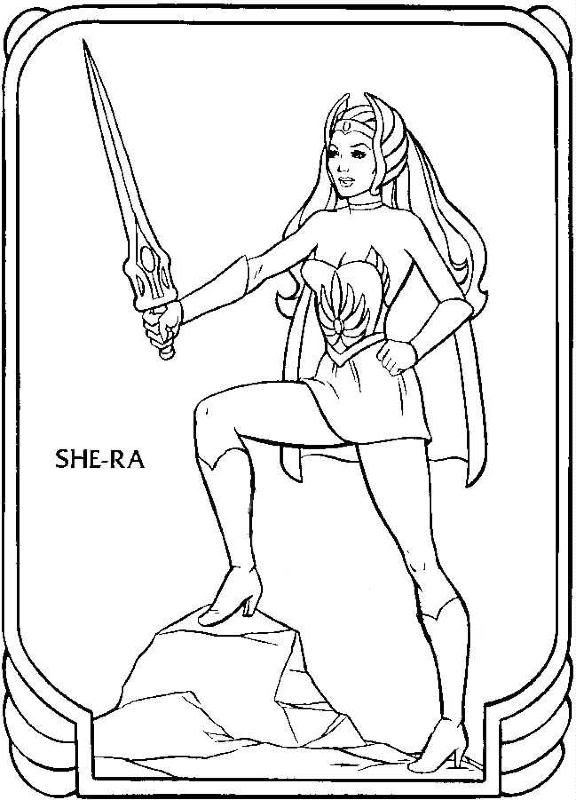 Whos who book golden coloring activity books 1985 page 5 she ra