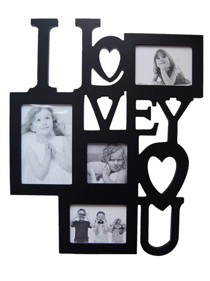 MARCO MADERA PARA 4 FOTOS I LOVE YOU | clock | Pinterest | Buscar ...