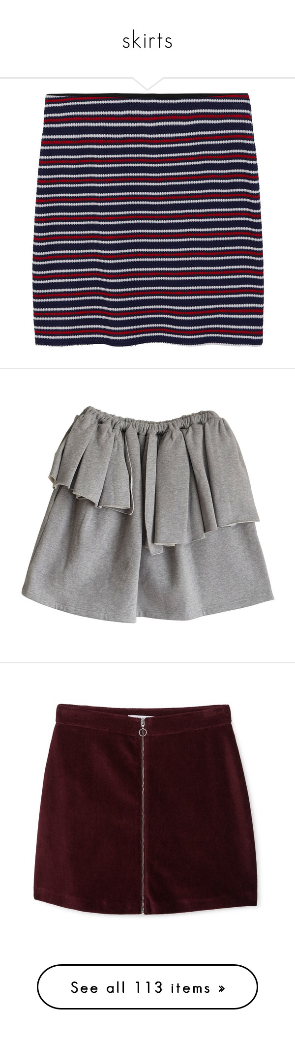 """""""skirts"""" by hedleyfaberdrive101 on Polyvore featuring skirts, cotton elastic waist skirts, blue cotton skirt, striped skirt, cotton knee length skirt, mango skirt, mini skirts, short frilly skirt, mini skirt and elastic waist skirt"""