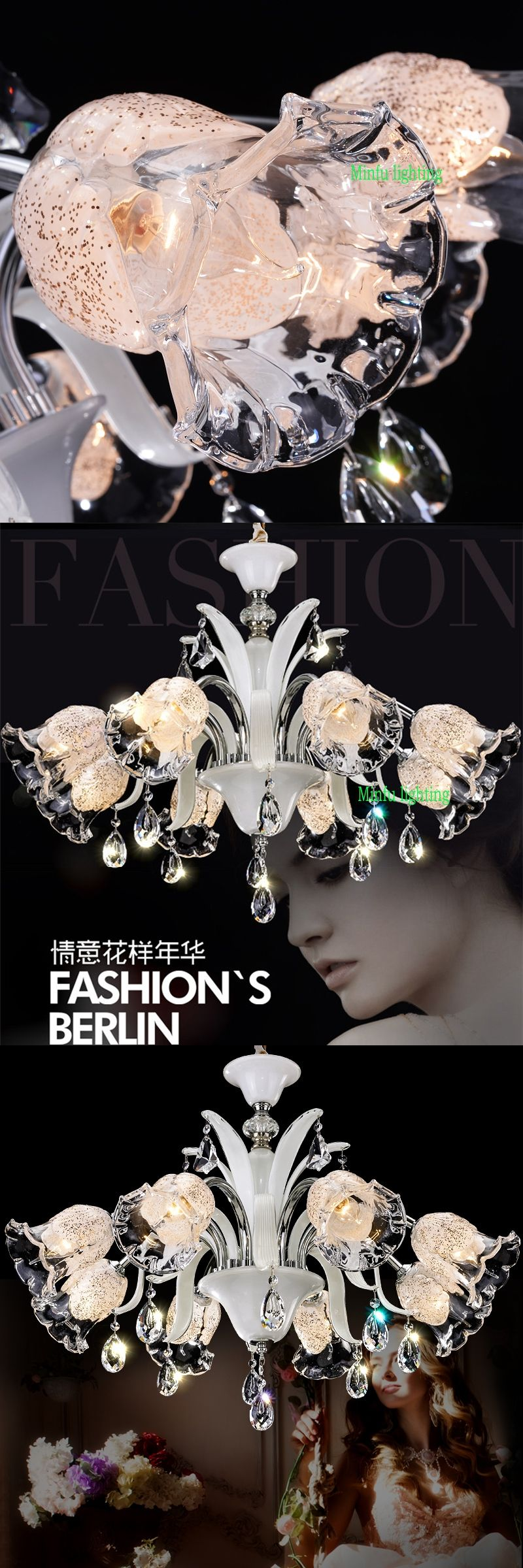 modern murano chandelier glass crystals lamp industrial rope