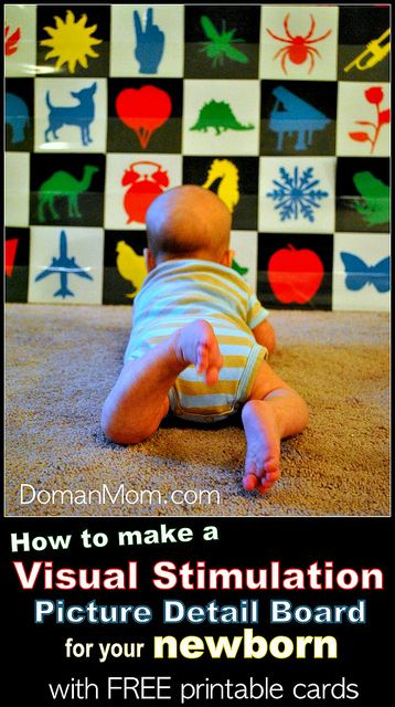 How To Make A Visual Stimulation Picture Board For Your Newborn With Free Printable Cards