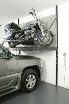 Motorcycle Mounted On Wall Google Search Garage