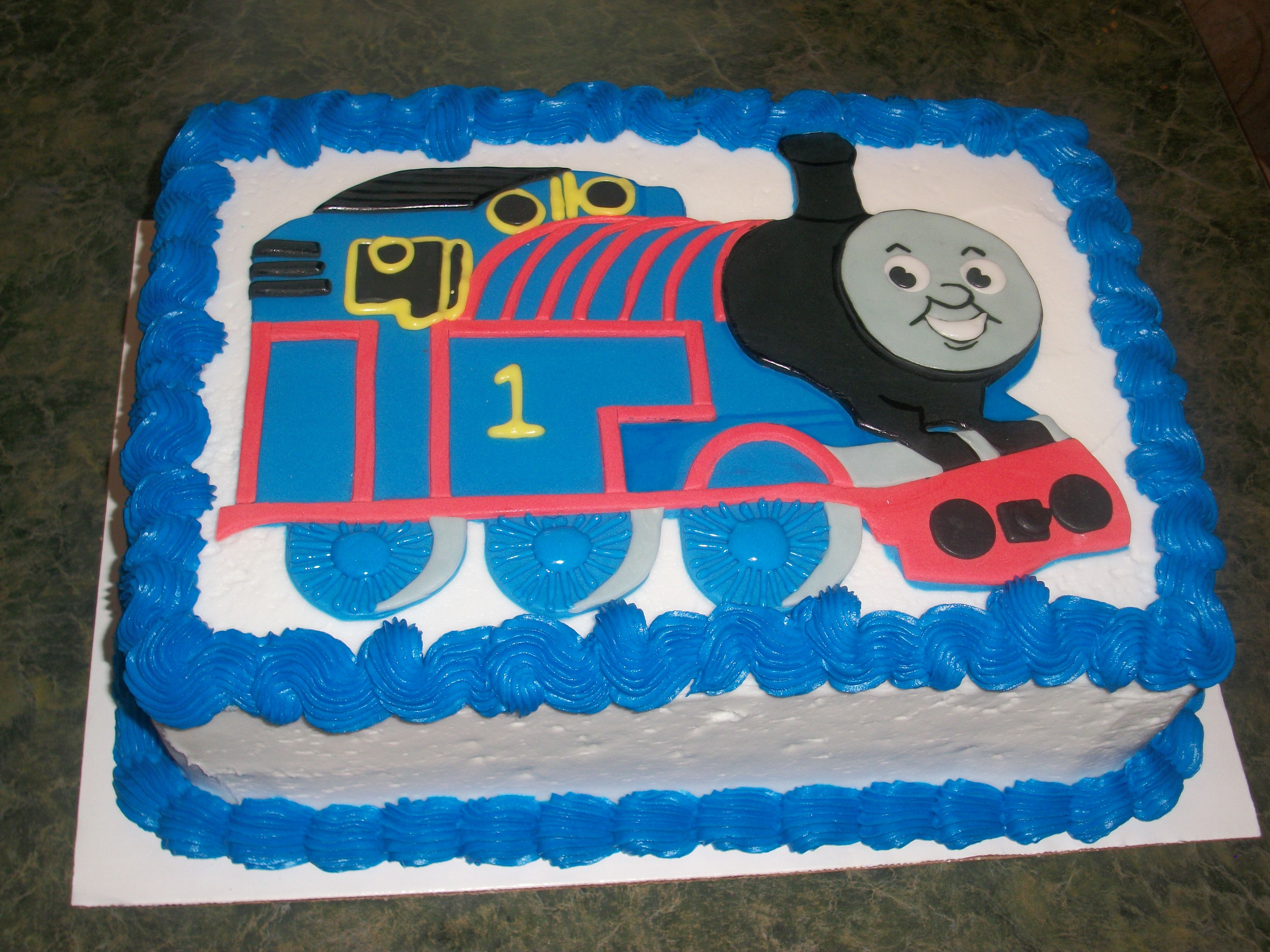 Thomas the Tank cake The free Smash cake for this order was not