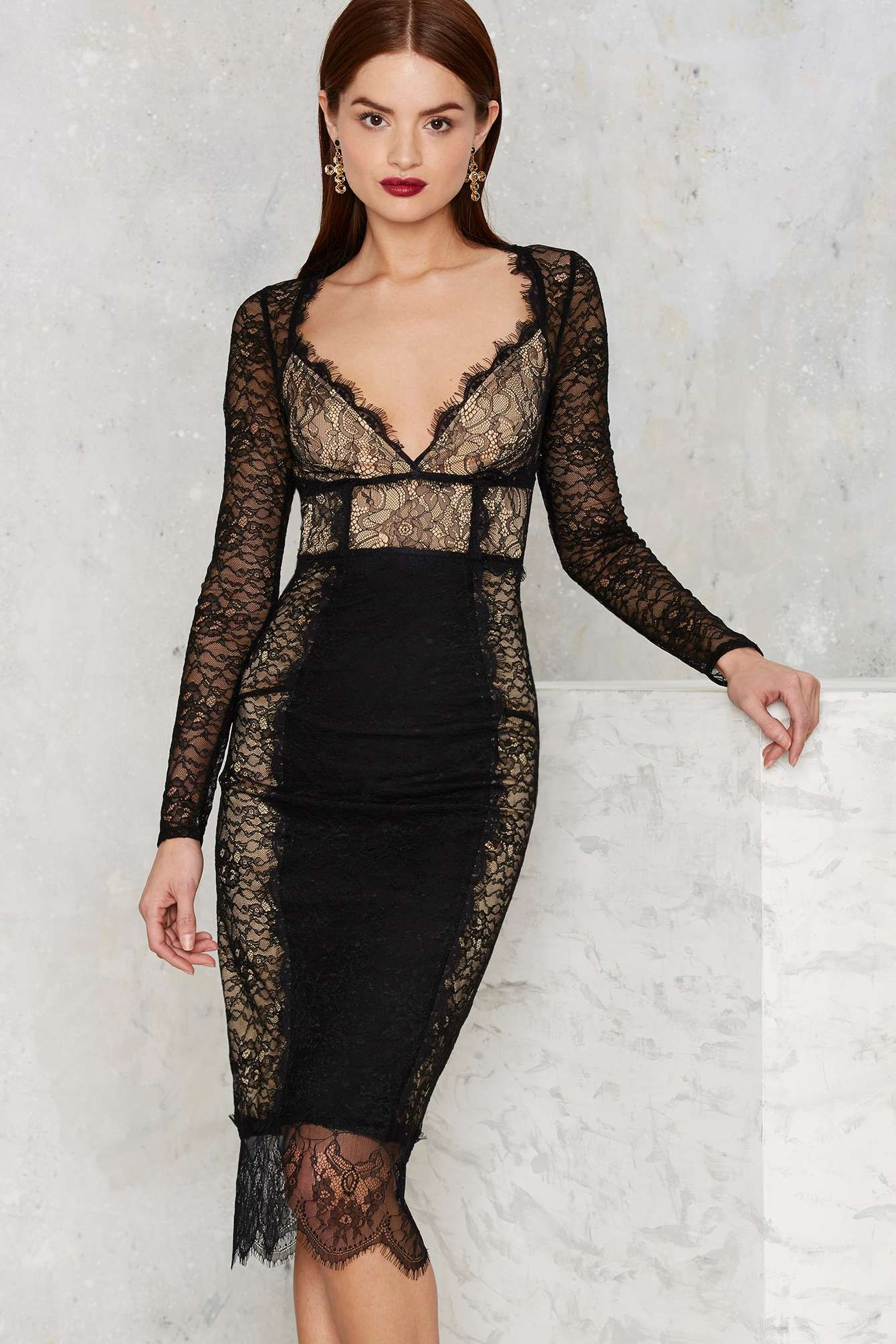 7d2989e3827 Nasty Gal Must Be the Lace Midi Dress