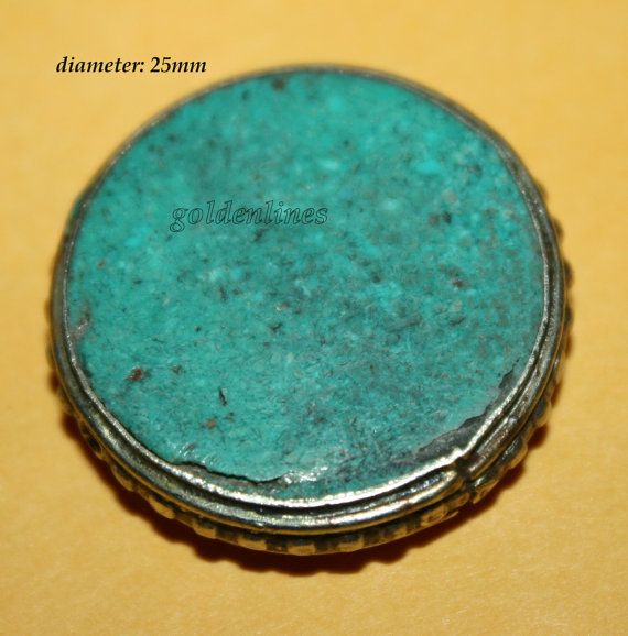 Nepalese Tibetan turquoise Beads 1 bead  Nepalese by goldenlines