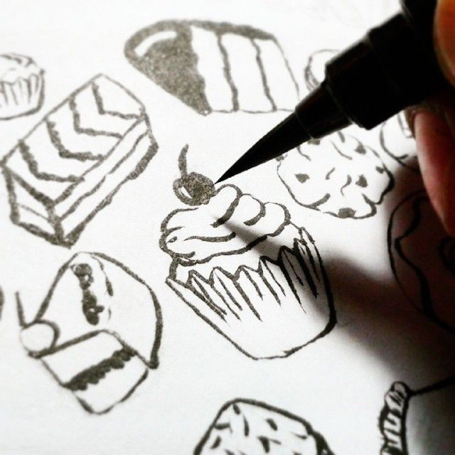 Happiness is... Yummy doodles