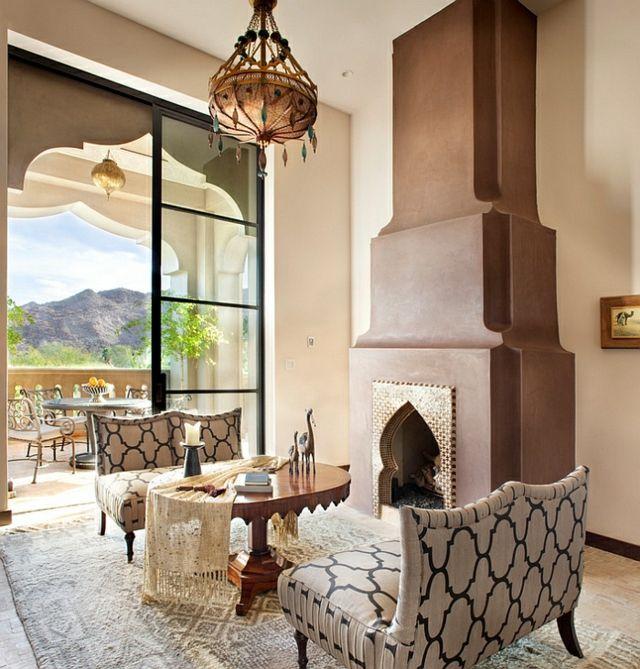 Haus-mit-Veranda-Wohnzimmer-mit-Kamin | Inneneinrichtung | Pinterest