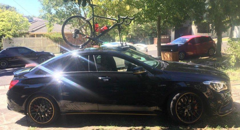 Mercedes CLA45 AMG Bike Rack Bike rack, Amg, Mercedes