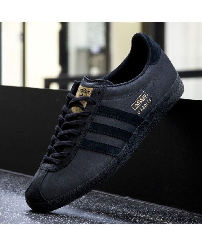finest selection 888d0 ee775 Adidas Gazelle OG Leather Black Trainer