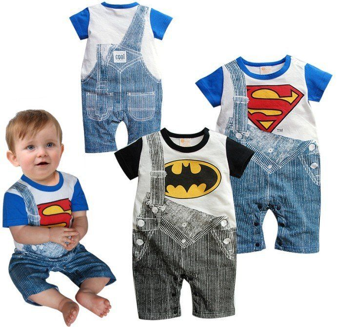 Wholesale Baby Boy Rompers Funky Baby Clothes Retro Baby Grows One