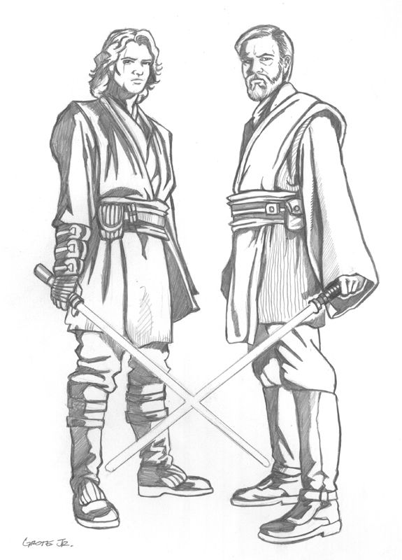 Anakin And Obi Wan Ep3 Comic Art Star Wars Drawings Star Wars