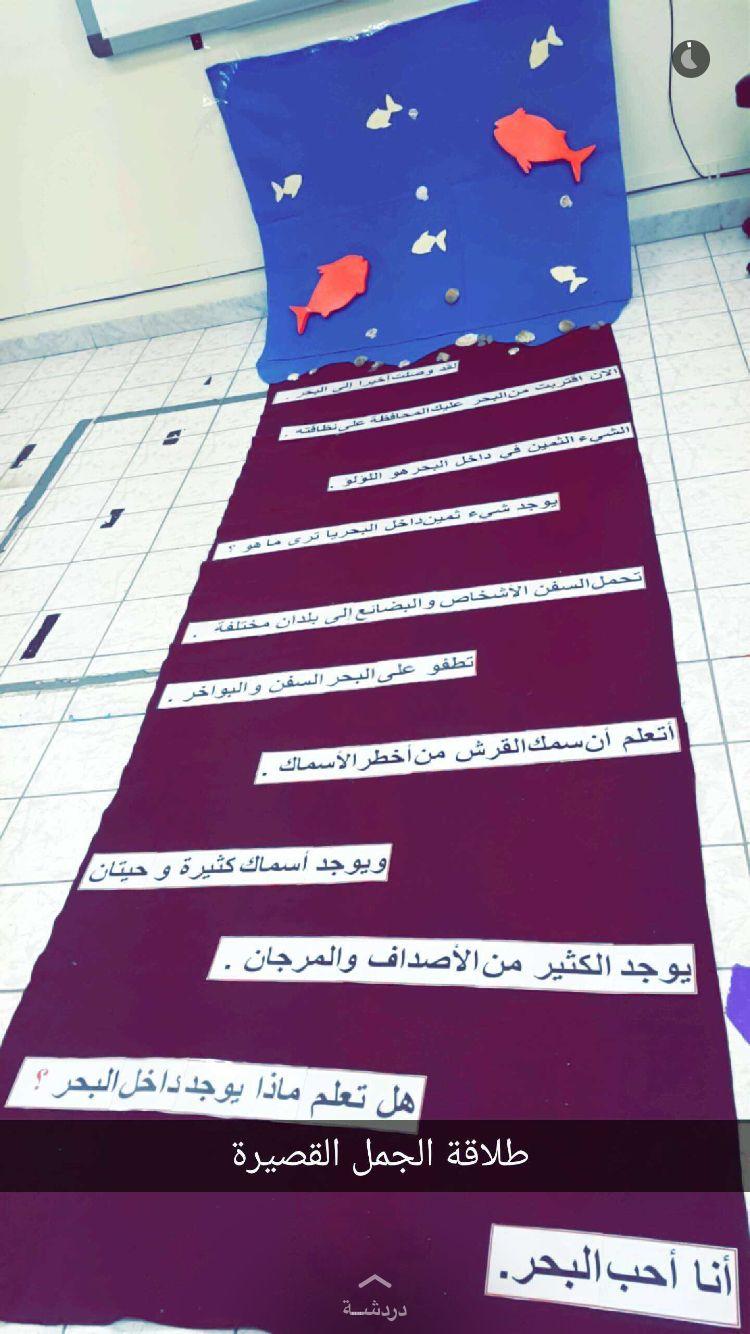 درس مصغر لطلاقة الجمل القصيرة أن يقرأ الطفل الجمل بطلاقة حتى يصل إلى البحر الهدف من النشاط أن يكون الطفل في نهاية Arabic Kids Apple Math Teach Arabic