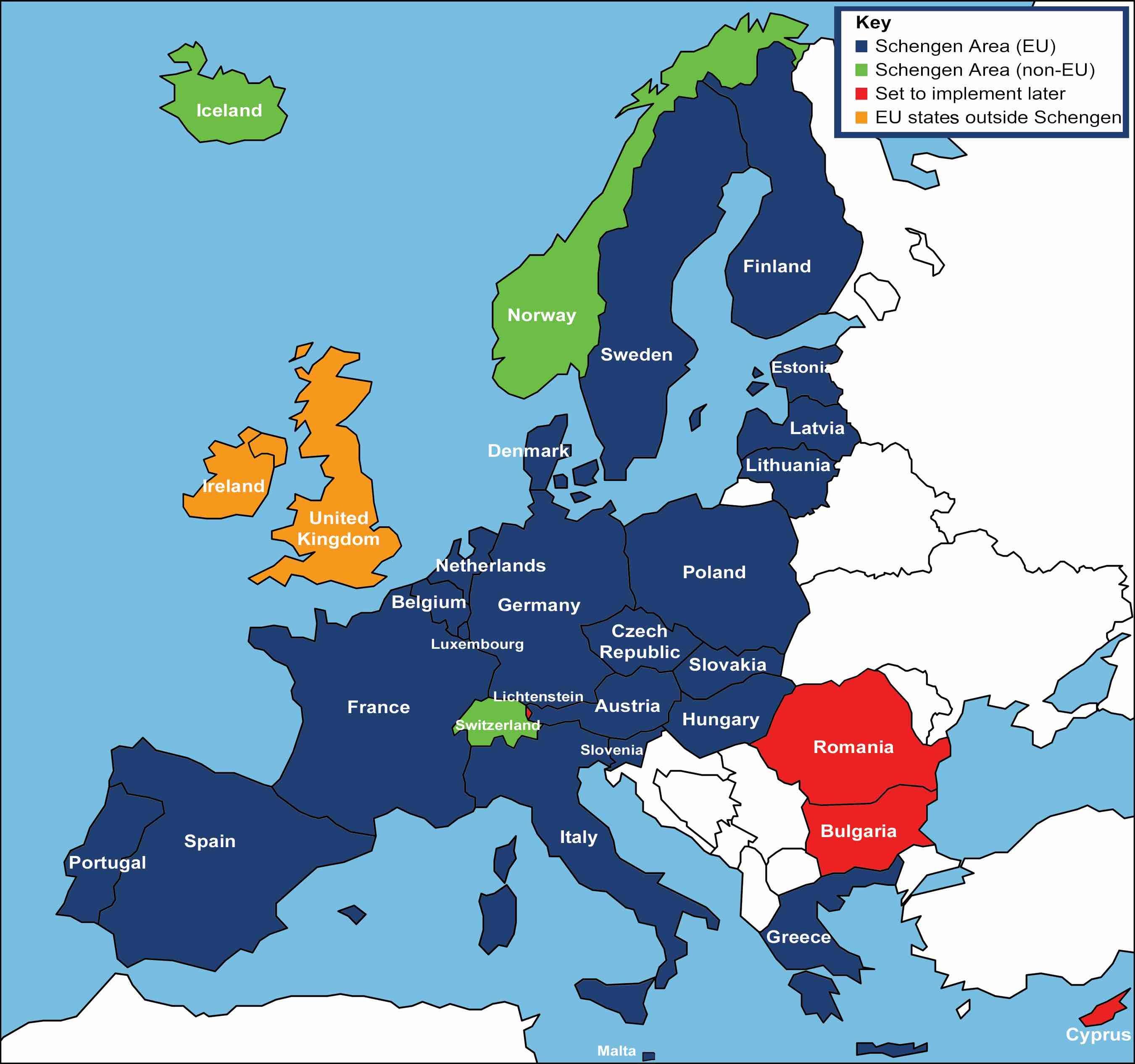 Schengen Countries Map How to travel in Europe on a Schengen Visa | Visas & Passports