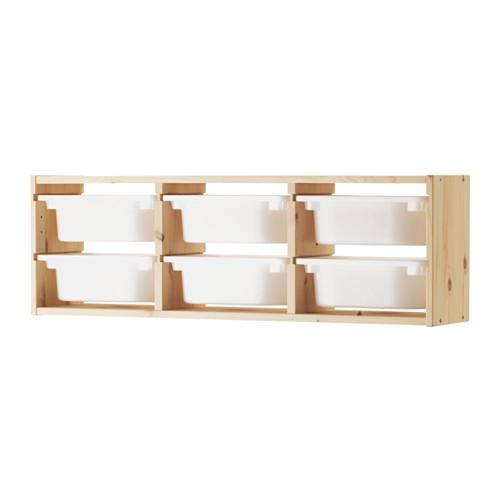 TROFAST Wandaufbewahrung IKEA Robuste Aufbewahrung zum Aufbewahren und Organisieren von Spielsachen. Praktische Aufbewahrung für kleine Dinge.