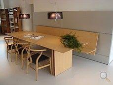 Möbelgeschäft Darmstadt esstische tisch und bank c3 in eiche an wandpaneel aluminium