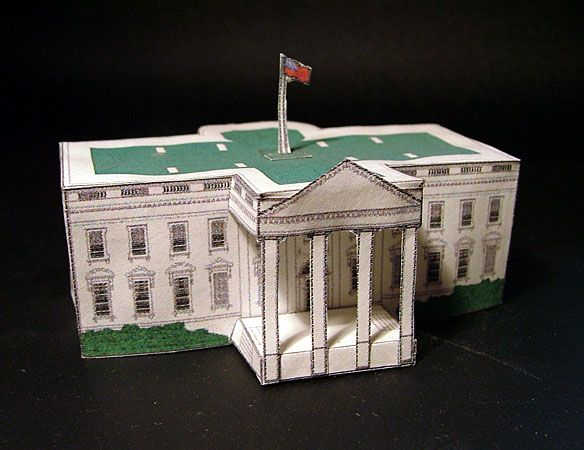 paper crafting white house papercraft printable paper model of the white house crafts across. Black Bedroom Furniture Sets. Home Design Ideas