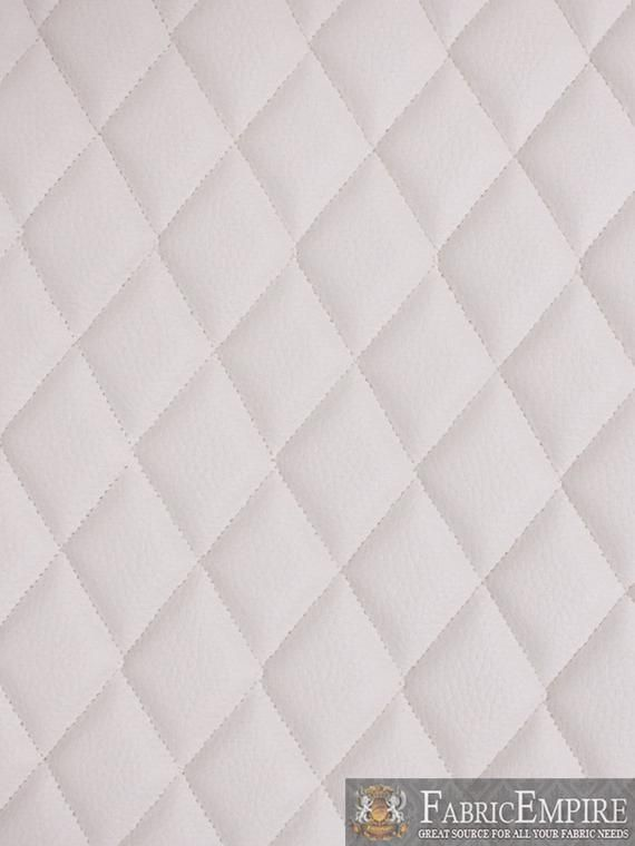Vinyl Grain Texture Quilted Foam White Fabric 2 X 3 Diamond With