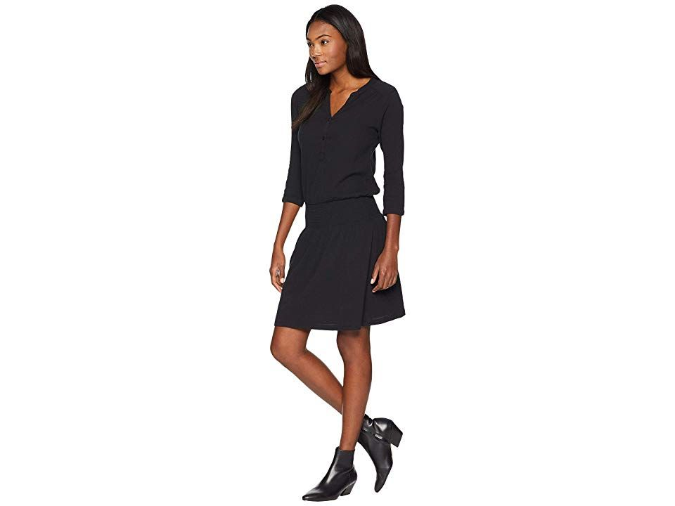 bd436957873 Prana Sugar Pine Dress (Solid Black) Women s Dress. Make your day sweeter  with the prAna Sugar Pine Dress. Standard fit skims the body with…