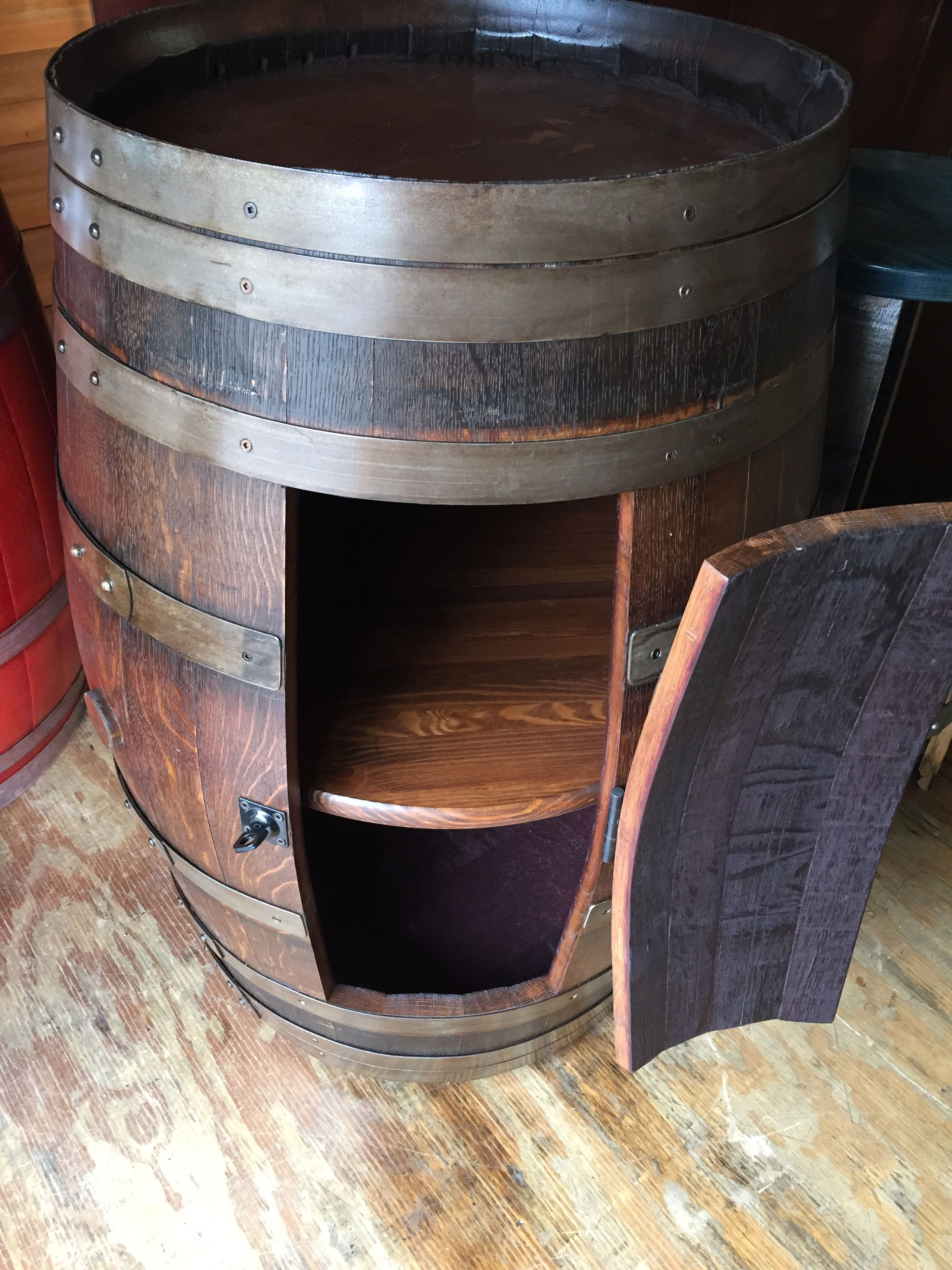 Storage oak wine barrels Liter This Vintage Cargo Wine Barrel Is Crafted From Reclaimed Oak Wine Barrels Great Way Pinterest This Vintage Cargo Wine Barrel Is Crafted From Reclaimed Oak Wine