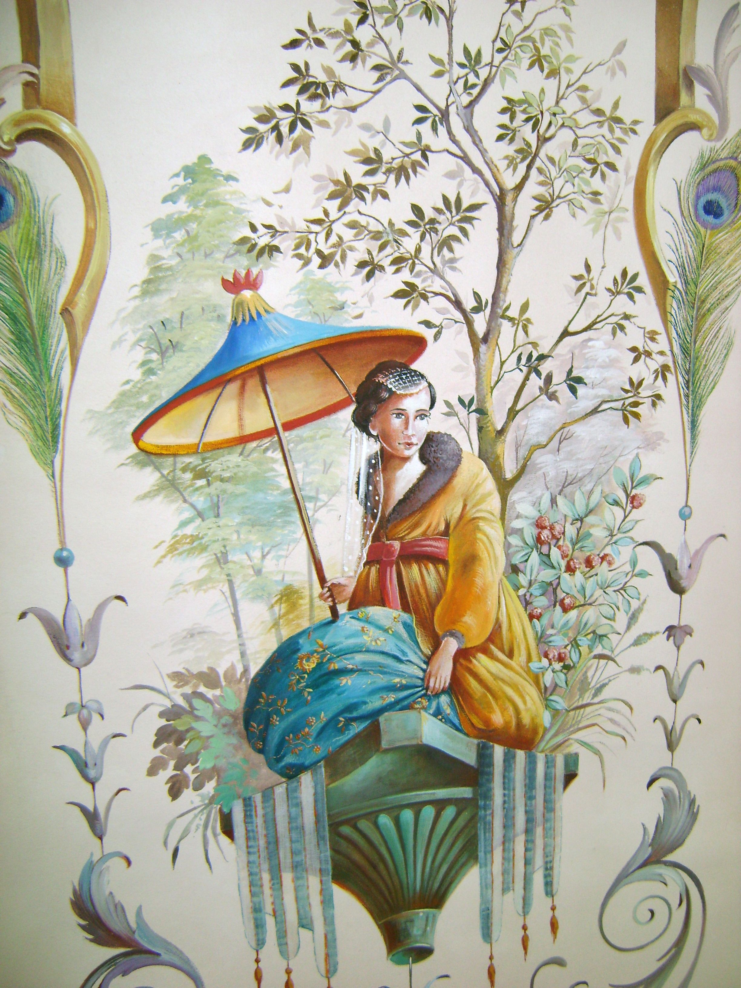 A Chinoiserie wallpaper Chinoiserie Decor Style