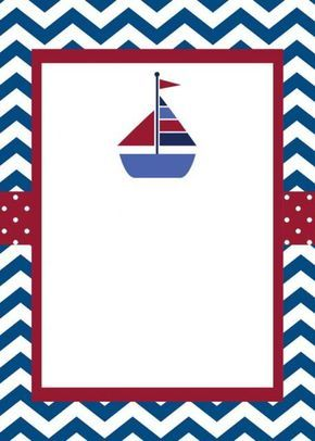 Nautical Baby Shower Invitation with FREE Diaper Raffle Cards, DIY ...